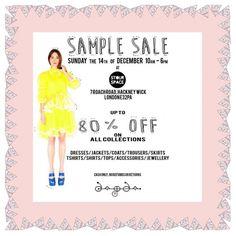 Dagda sample sale -- London -- 14/12