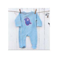 Pyjama bébé en velour de coton bio, La Queue Du Chat.