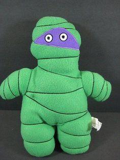 """12"""" Green MUMMY Purple Mask Soft Plush Stuffed Toy NEN Network B167"""