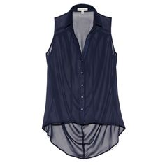 SLEEVELESS HIGH LOW BLOUSE Vince Camuto