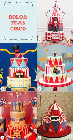 5 bolos inspiradores para uma festa infantil com tema circo