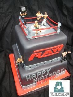 Wrestling cake for Birthday party!! Koty's birthday??