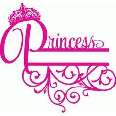 Silhouette Design Store - View Design #73243: crown princess split title