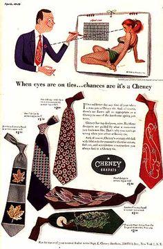 Vintage tie ad for Cheney cravats.