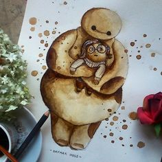 Umelkyňa maľuje pomocou kávy NÁDHERNÉ obrazy! - Europa 2