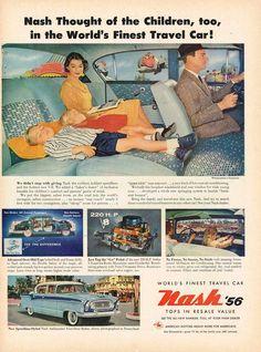 Vintage  Nash Ambassador 4-Door Sedan Ad - 1956