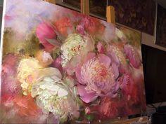 Large painting of peonies - Пишем пионы. 2 часть.