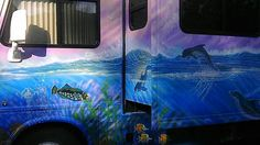 Airbrushed 40 FT MURAL RV,  DR SIDE -  by James Kirscher
