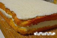 Prajitura alba cu crema de lapte pregatita de Ramona Dascalu Food Cakes, Cake Recipes, Caramel, Cheesecake, Desserts, Romania, Pastries, Cakes, Dump Cake Recipes