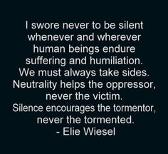 Speak out...don't ever let your voice be silenced by threats or intimidation. Know your truth and share it xoxo
