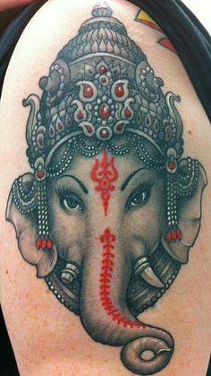 Bold Ganesha tattoo