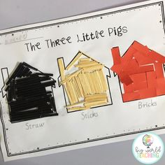 Learning about the Three Little Pigs is so exciting and engaging for kids! - PT - Home Lilla 3 Little Pigs Activities, Fairy Tale Activities, Toddler Activities, Preschool Activities, Three Little Pigs Song, Three Little Pigs Houses, Preschool Crafts, Crafts For Kids, Pig Crafts