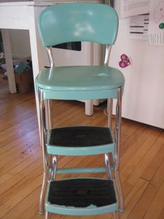 High Quality Vintage Turquoise Aqua Cosco Step Stool 80/Best Offer