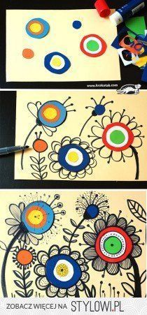Kunst in der Grundschule: Doodle Blumen art for kids ideas How to draw FLOWERS Cool Art Projects, Projects For Kids, Kids Crafts, Craft Projects, Spring Art Projects, Art Project For Kids, Class Art Projects, Art Crafts, Garden Projects
