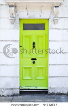 Want to paint front door lime green
