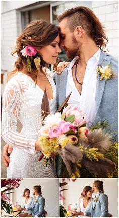 Coastal Luxe Boho Wedding Inspiration at Brunswick Heads, Australia. Flowers by Victoria Fitzgibbon