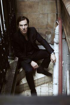 strange place for a snapshot!! Benedict Cumberbatch  Radio Times Shoot