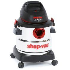 Shop Vac 5986000 5 Gallon 4.5 Peak HP Stainless Steel Wet Dry Vacuum