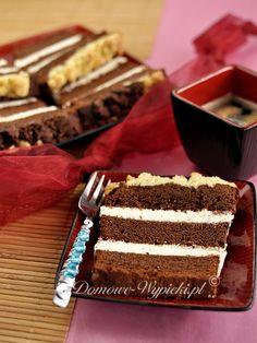 Ciasto czekoladowe z kremem serowym - Przepis średnie (mniej niż 25 zł) średnie