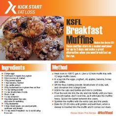 breakfast muffins Sunday Breakfast, Breakfast Muffins, Clean Eating, Healthy Eating, Oatmeal, Oven, Kicks, Recipes, Food