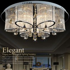 Gorgeous Art Deco style led ceiling light modern crystal chandelier