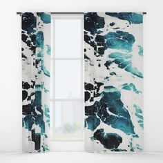 Dark Ocean Waves Window Curtain by Cadinera on Society6