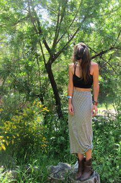 Maxi Skirt & Crop Top