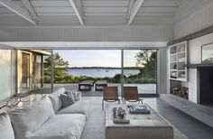 MONTAUK LAKE HOUSE Montauk, New York Designed to accommodate a growing family and close friends, this lake-front compound includes a 4,500-square-foot main house with 50-foot lap pool, an 1800-square-foot three-bedroom guest house, and a barn....