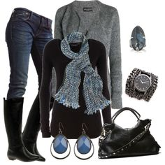 """""""Misty Blues"""" by smores1165 on Polyvore"""