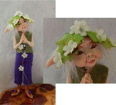 Driscoll Woodland Elf OOAK Fairy Fairies Sculpture Art Doll Elfin Figurine #handmade