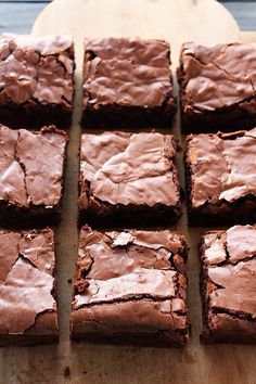 Ultimate Brownies are ultra thick, fudgy, chewy, and chocolaty with that perfect crinkly crust on top. It took over 6 batches to get this recipe JUST right! Chewy Brownies, No Bake Brownies, Homemade Brownies, Brownie Bar, Flourless Chocolate Cakes, Chocolate Chip Recipes, Mexican Food Recipes, Sweet Recipes
