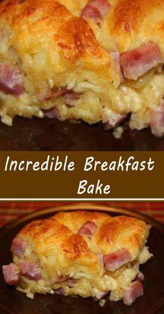 Baked Breakfast Recipes, Breakfast Casserole Easy, Easy Casserole Recipes, Breakfast Items, Breakfast Dishes, Best Breakfast, Brunch Recipes, Breakfast Pizza, Brunch Ideas