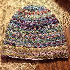 Field of Wildflowers by Joji Locatelli, knitted by LarcYarn. malabrigo Nube in Arco Iris colorway. Find it here: http://www.ravelry.com/projects/LarcYarn/field-of-wildflowers Pattern here: http://www.ravelry.com/patterns/library/field-of-wildflowers