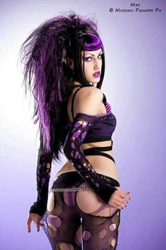 #CyberGoth girl in my favorite color combo of #purple and #black