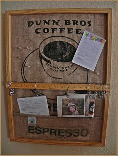 A Southern Belle with Northern Roots: Coffee Bag Bulletin Board