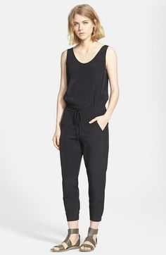 30% off. $276.50. Gorgeous on. Vince Sleeveless Silk Jumpsuit available at #Nordstrom
