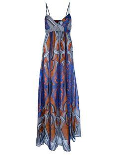 Dondup printed maxi dress