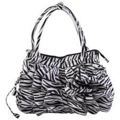 @Overstock - Ruffled details and fashionable zebra print adds style to this double top tote bag by Journee Collection.  This roomy handbag is completed with a zip-top closure and multiple pockets to organize and carry around all your essentials.http://www.overstock.com/Clothing-Shoes/Journee-Collection-Womens-Zebra-Print-Ruffled-Tote-Bag/6201271/product.html?CID=214117 $38.45