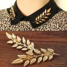 76313c3009 New Style Collar Pin Brooch Jewelry Fashion Leaves Retro Shirt Men Women  Collar Brooch Pin Collar Jewelry lovers Accessories  GE07021 1