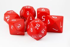 Giant Foam RPG Dice (Red) | 7-Set Squishy Dice