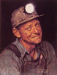 Mine America's Coal by Norman Rockwell #art