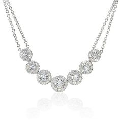 Diamond 18k White Gold Necklace « Holiday Adds