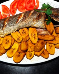 Grilled Fish and Plantain (Nigerian Dish)