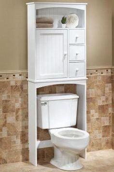 Bath Room Vanity With Linen Closet Popular Ideas Bathroom Storage Over Toilet, Bathroom Linen Cabinet, Bathroom Furniture, Home Room Design, Home Design Decor, Küchen Design, Space Saving Bathroom, White Master Bathroom, Bad Styling