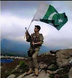 Great country. Great flag. Great Army. Pakistan.