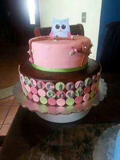 Owl cake from candy's cupcakes