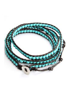 #Chicwish Turquoise Leather Knit Waistbelt Bracelet - Accessory - Retro, Indie and Unique Fashion