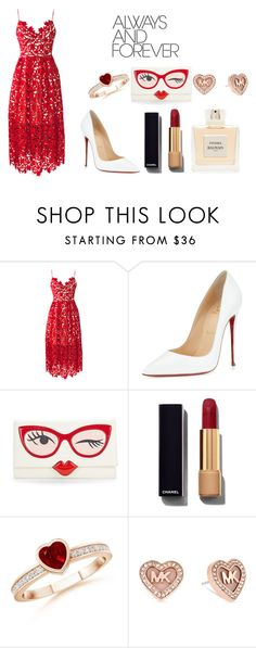 """""""Valentine"""" by dreamarie151 on Polyvore featuring Christian Louboutin, Kate Spade, Chanel, Balmain, Michael Kors, women's clothing, women, female, woman and misses"""
