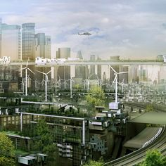 Future London, Futuristic City, Future Architecture. Architectural Photography: Simon Kennedy. Designer: Factory Fifteen