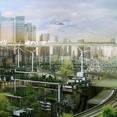 Future London, Futuristic City, Future Architecture. Architectural Photography: Simon Kennedy. Designer: Factory Fifteen